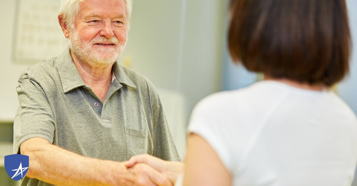senior man meeting naturopathic doctor